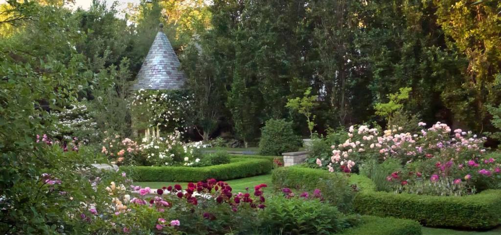 Garden-at-Sunset